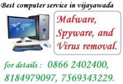 Malware, Spyware, and Virus removal are available