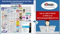 Times of India Education Classified Advertisement