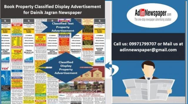 Property Advertisement in Dainik Jagran Newspaper