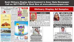 Amar Ujala Obituary Display Advertisement Booking Online