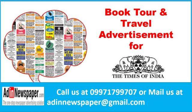 Tour and Travel Newspaper Ad Booking Online