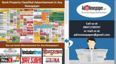 Property Newspaper Classified Ad Booking Online