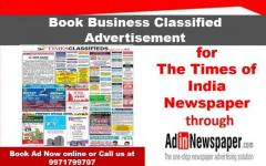 Times of India Classified Ad Booking Online