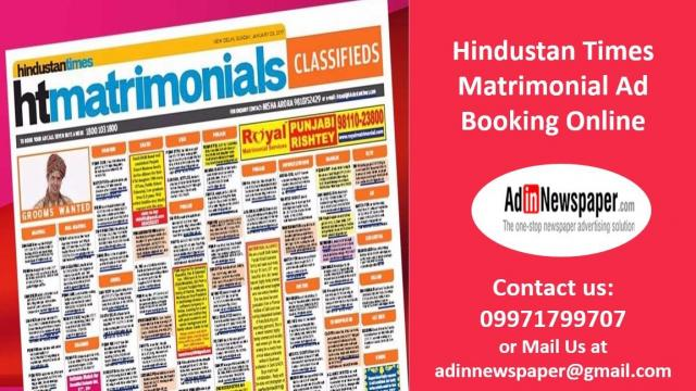 Matrimonial Ad in Hindustan Times for Noida