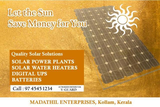 Solar Product Dealers in Kollam - Madathil Enterprises