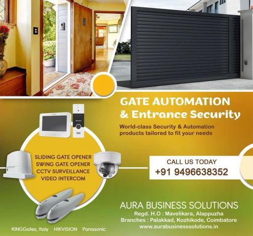 Automatic Gates Malappuram - Aura Business Solutions