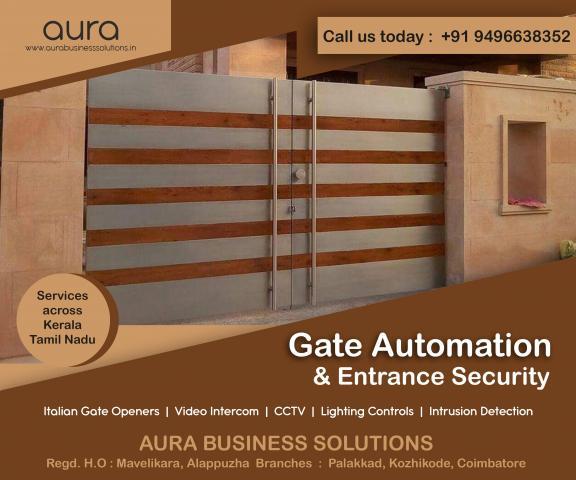 Automatic Gates Kozhikode - Aura Business Solutions