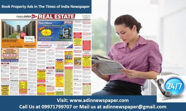 Book Times of India Property Advertisement for Delhi