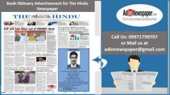 Get The Hindu Obituary Display Ad Rates