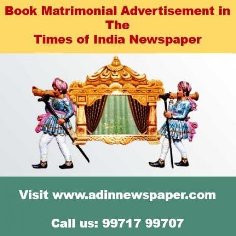 TOI Matrimonial Classified Advertisement Rates