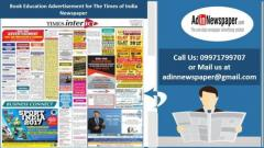 Get Times of India Education Advertisement Rates Online