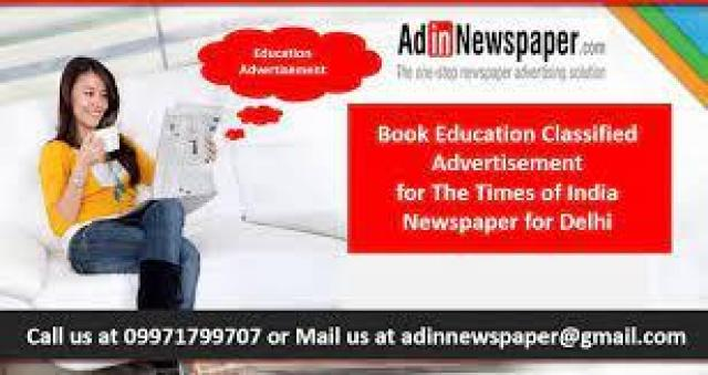 Find Education Newspaper Ad Booking Service