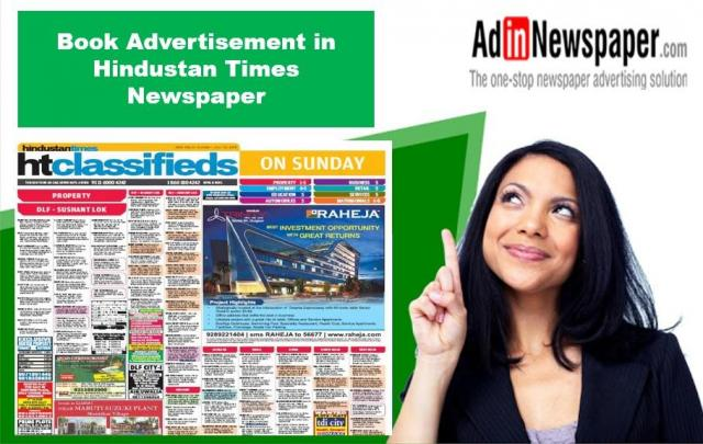 Get Hindustan Times Property Classified Ad Rates Online