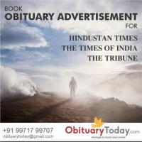 Get Obituary Advertisement in English Newspapers